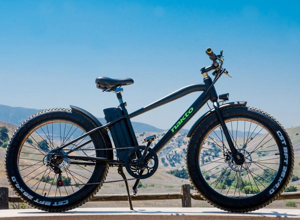 "Nakto e-Bikes NAKTO Fat Tire Electric Bicycle 26"" Cruise(Black"