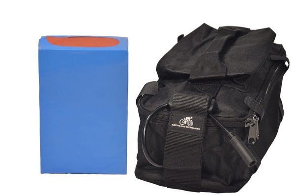 eBikeKit Li-ion 48v 9ah battery, bag & charger
