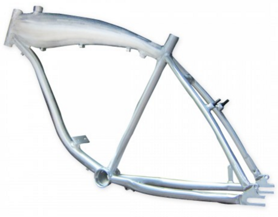 Aluminum gas bike frame with built-in tank