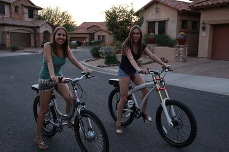 Marissa & Jenna love to ride the e-bikes
