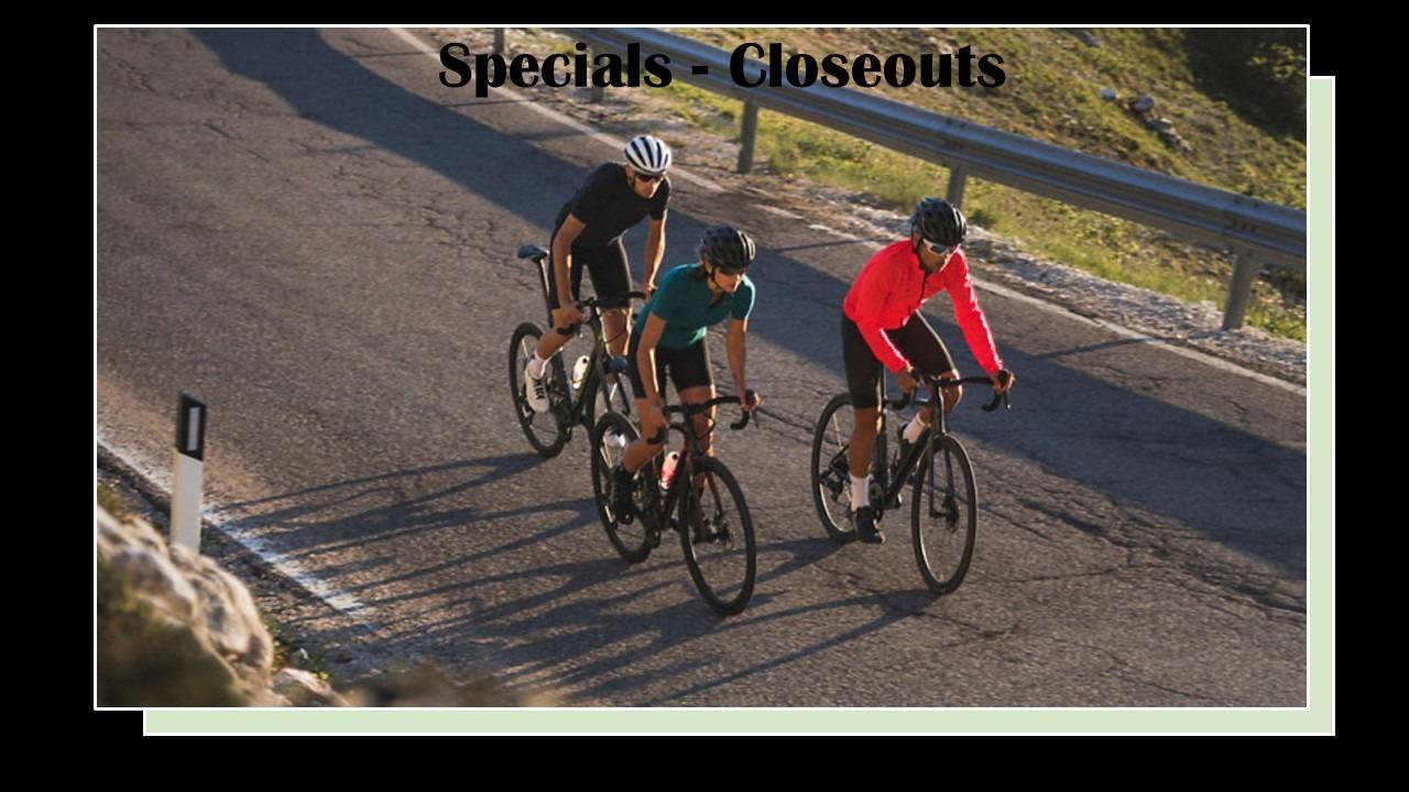Specials - Closeouts - Markdowns