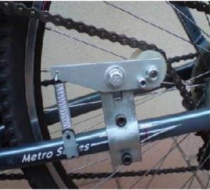 Pulley tension-er on bike