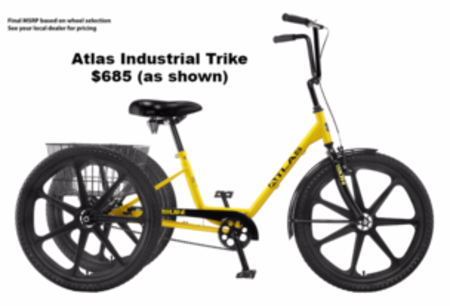 Atlas adult industrial commercial trike