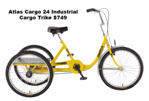 Atlas cargo adult industrial commercial trike