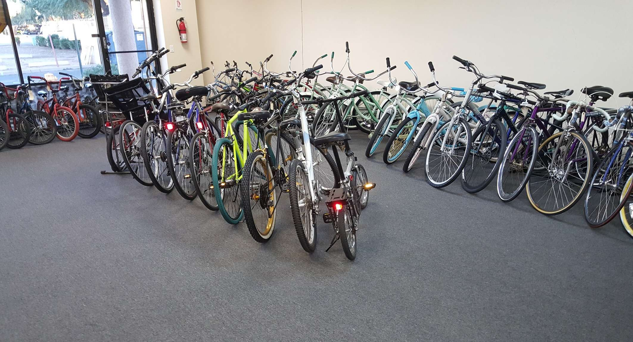 Used bike showroom