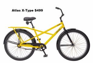 Atlas x-type bicycle adult industrial commercial