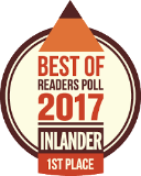Best of Readers Poll 2017 - Inlander 1st Place