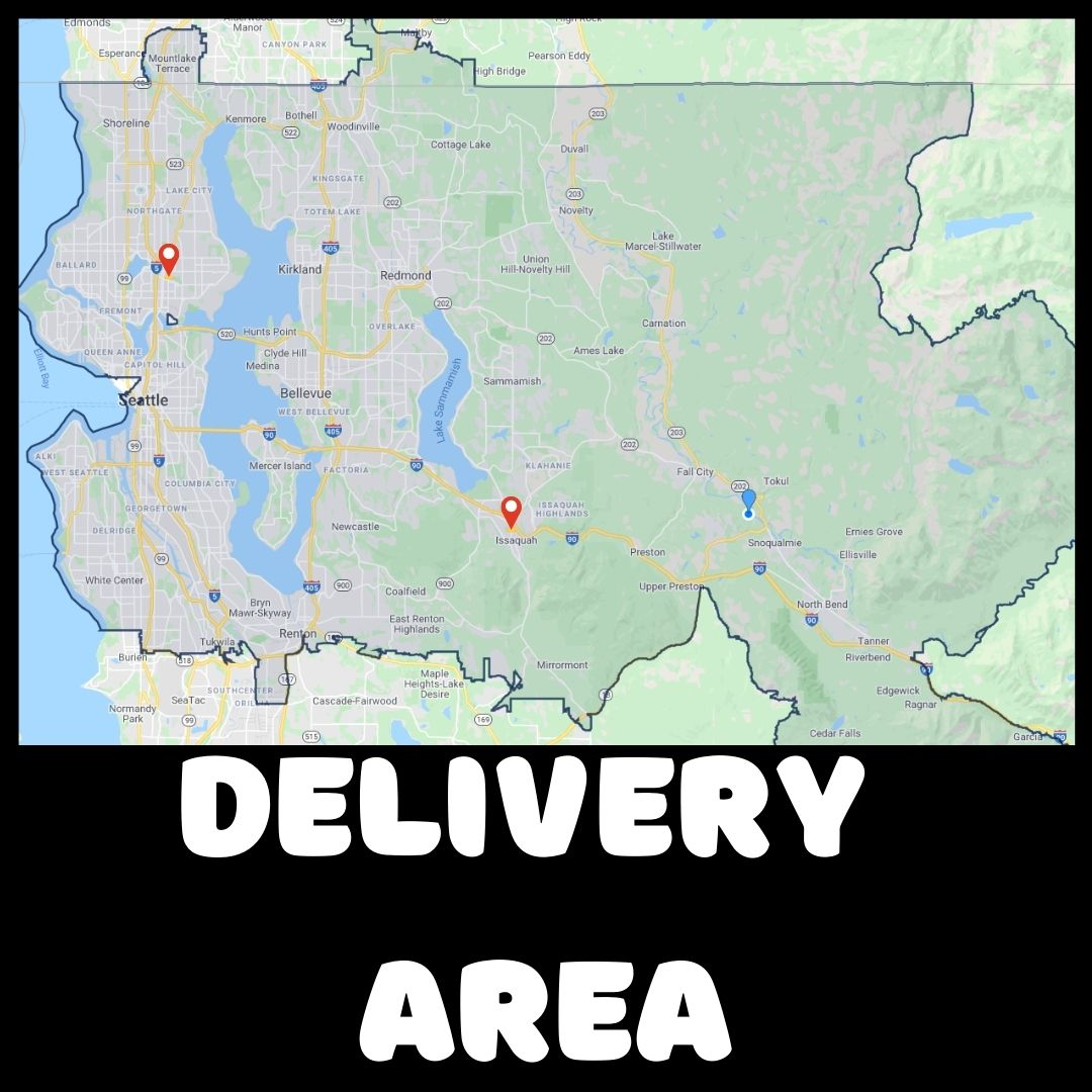 Map of delivery area