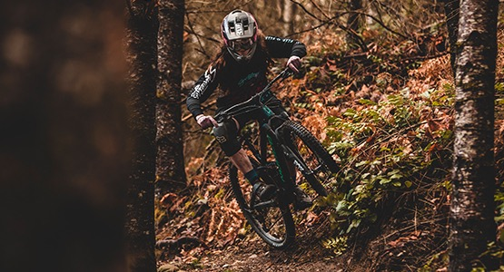 Rider on mountain bike