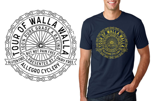 Allegro Cyclery Tour of Walla Walla Commemorative T-Shirt