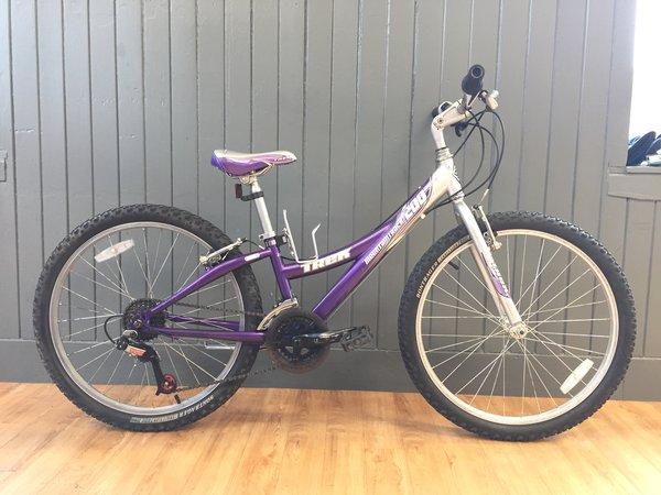 "Bike Tech Usedbike Trek 200 MT girls pup/sil 24"""