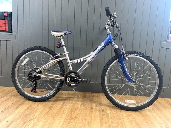 "Bike Tech Usedbike Trek 220 MT Kids Blu/Sil 24"""