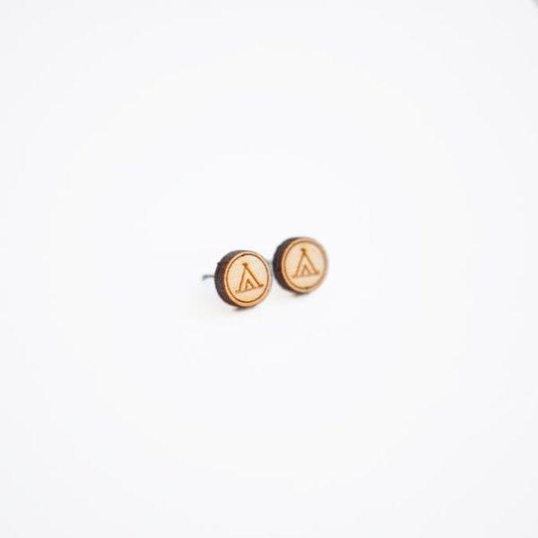Tiny Lumber Camping Earrings
