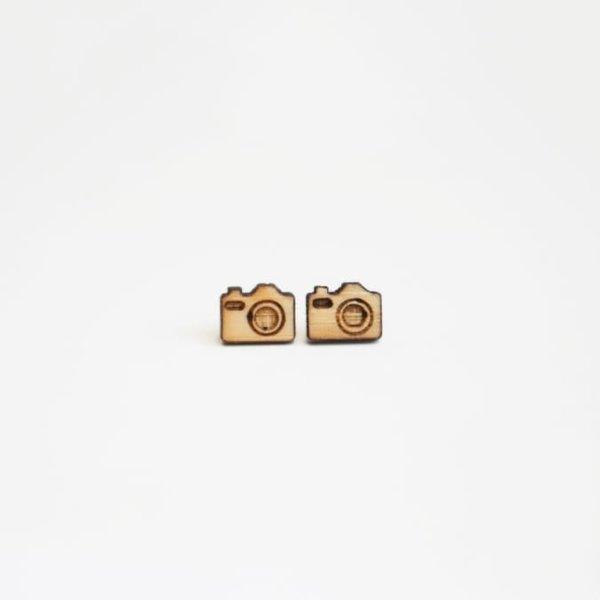 Tiny Lumber Camera Earrings