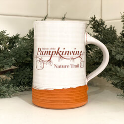 Pumpkinvine Cyclery Friends of the Pumpkinvine Mug by Riverwood Pottery
