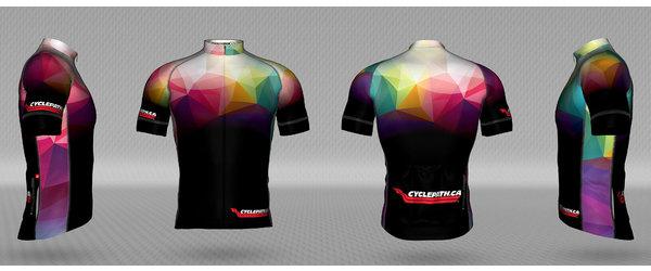 Jakroo Cyclepath custom Kaleidoscope jersey
