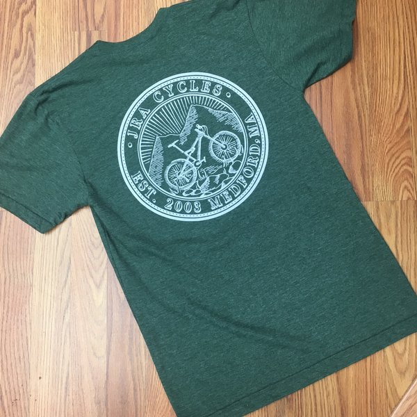 JRA Cycles T-Shirt: JRA Seal, Army Green