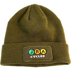 JRA Cycles JRA Winter Hat, Army Green Patch