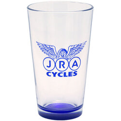JRA Cycles Pint Glass: JRA 16oz Single Logo, Dark Blue