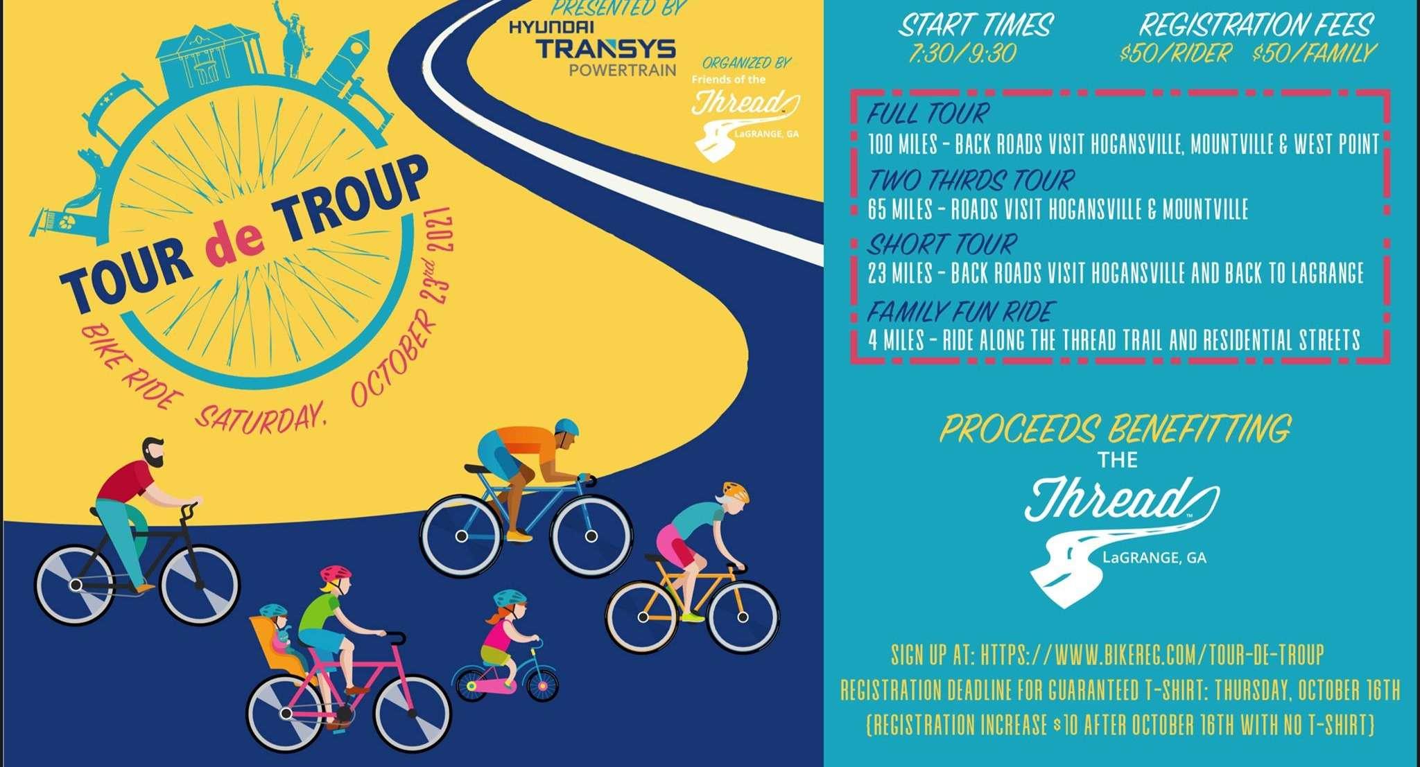 Tour de Troup 2021 flyer