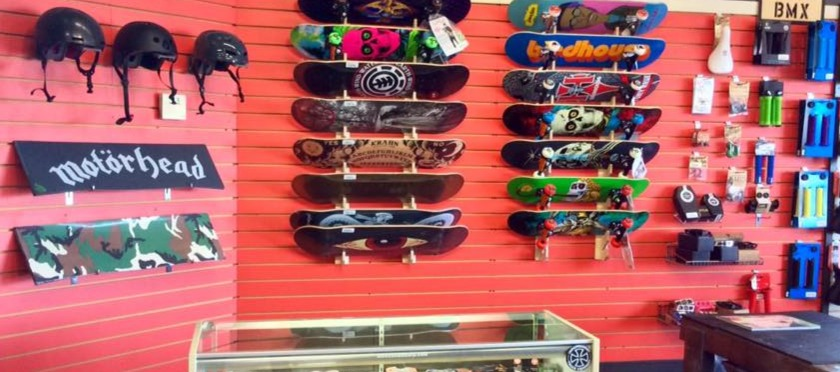 Skateboards at Bikes and Moore
