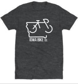 Iowa Bike Co. Grey Iowa Bike Co. T-Shirt