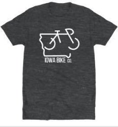 Iowa Bike Co. Grey Iowa Bike Co. T-Shirt
