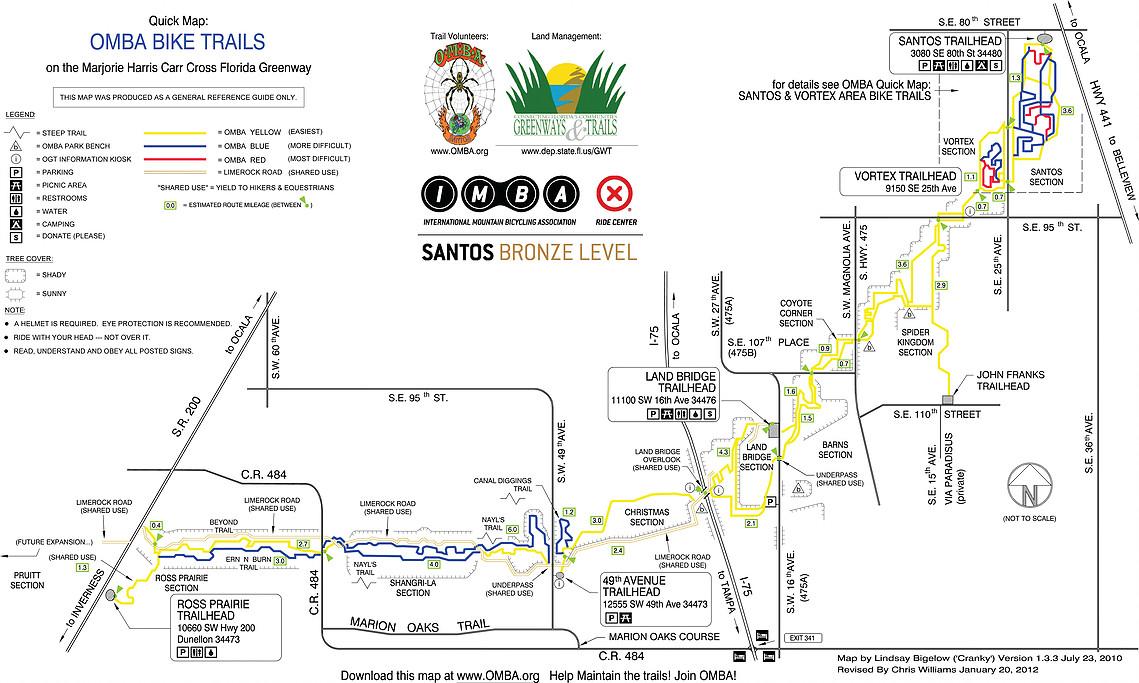 Santos Epic trail Map - www.brandonbikeworks.com