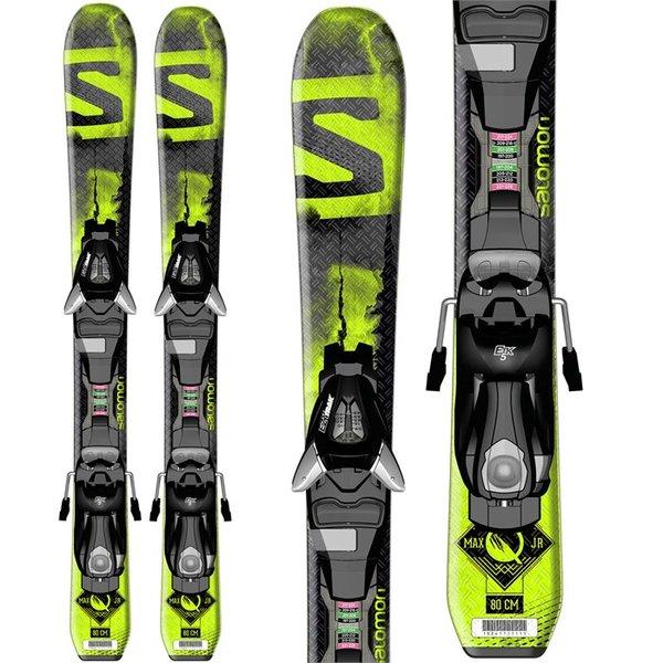 Salomon E Q-Max Jr S + EZY5 J75 Black Green