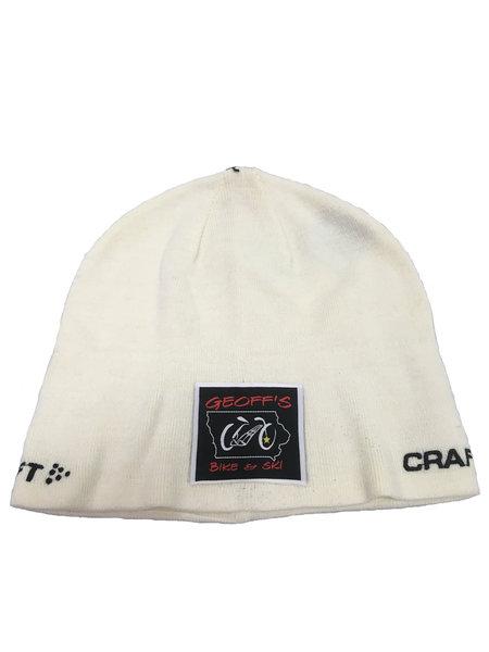 Geoff's Bike and Ski Craft Race Hat GB&S White L/XL