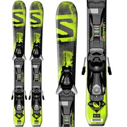 Salomon E Q-Max Jr S + EZY5 J75 Black Green