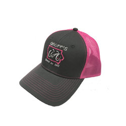 Geoff's Bike and Ski Port Authority GB&S Trucker Hat PINK/GRAY