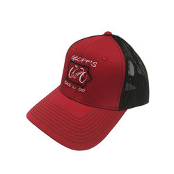 Geoff's Bike and Ski Port Authority GB&S Trucker Hat RED/BLK