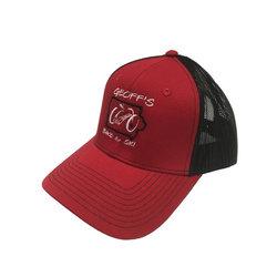 Geoff's Bike and Ski Port Authority GB&S Trucker Hat RED/BLK