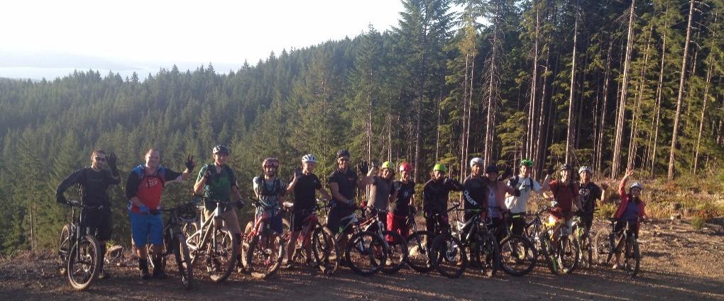 Silverdale Cyclery group mountain bike ride