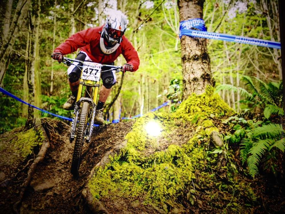 Jeff downhill Silverdale Cyclery