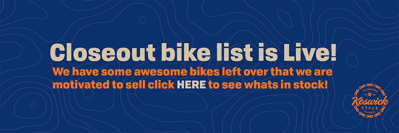 Closeout Bikes