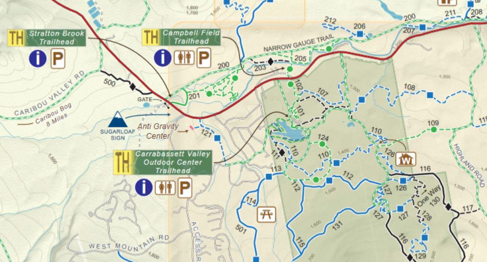 Carrabassett Valley Trail Maps
