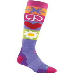 Darn Tough Peace Love Snow Junior Over-The-Calf Socks