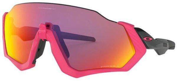 Oakley Flight Jacket Polished Black/Neon Pink Prizm