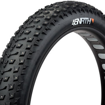 "45NRTH 45NORTH DILLINGER 26 X 4.8"" STUDDED FATBIKE TIRE 120TPI FOLDING (258 CONCAVE STUDS)"