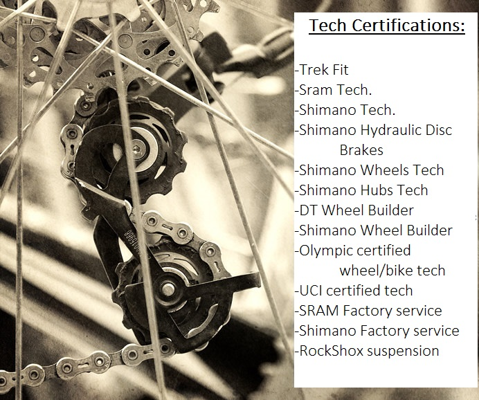 shimano sram hub hydraulic brake trek fit wheel builder certified tech