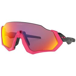 Oakley Flight Jacket Polished Black/Neon Pink Prizm