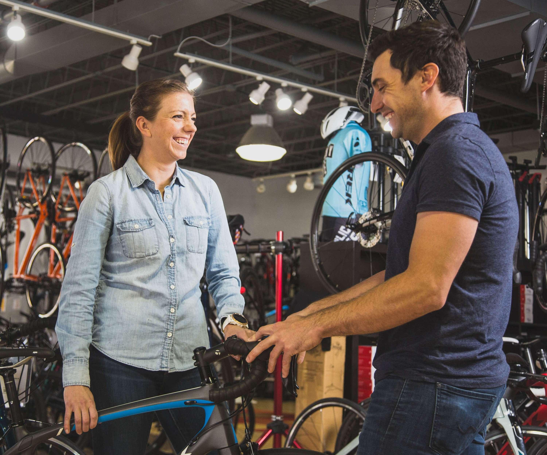 Bike sale in showroom