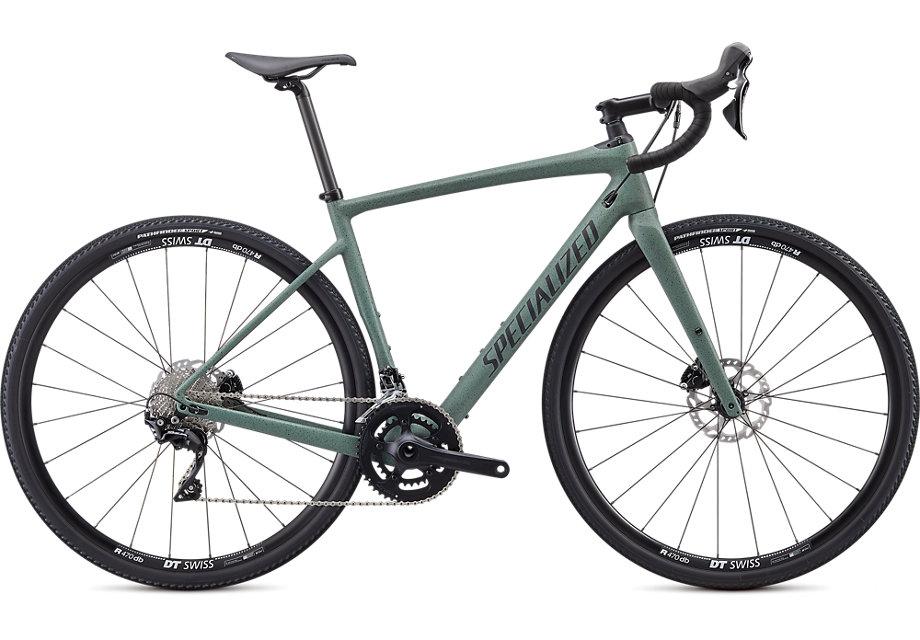 Green gravel bike