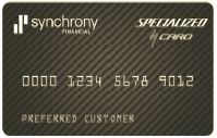 Example of a black synchrony credit card that can be used for paying in installments