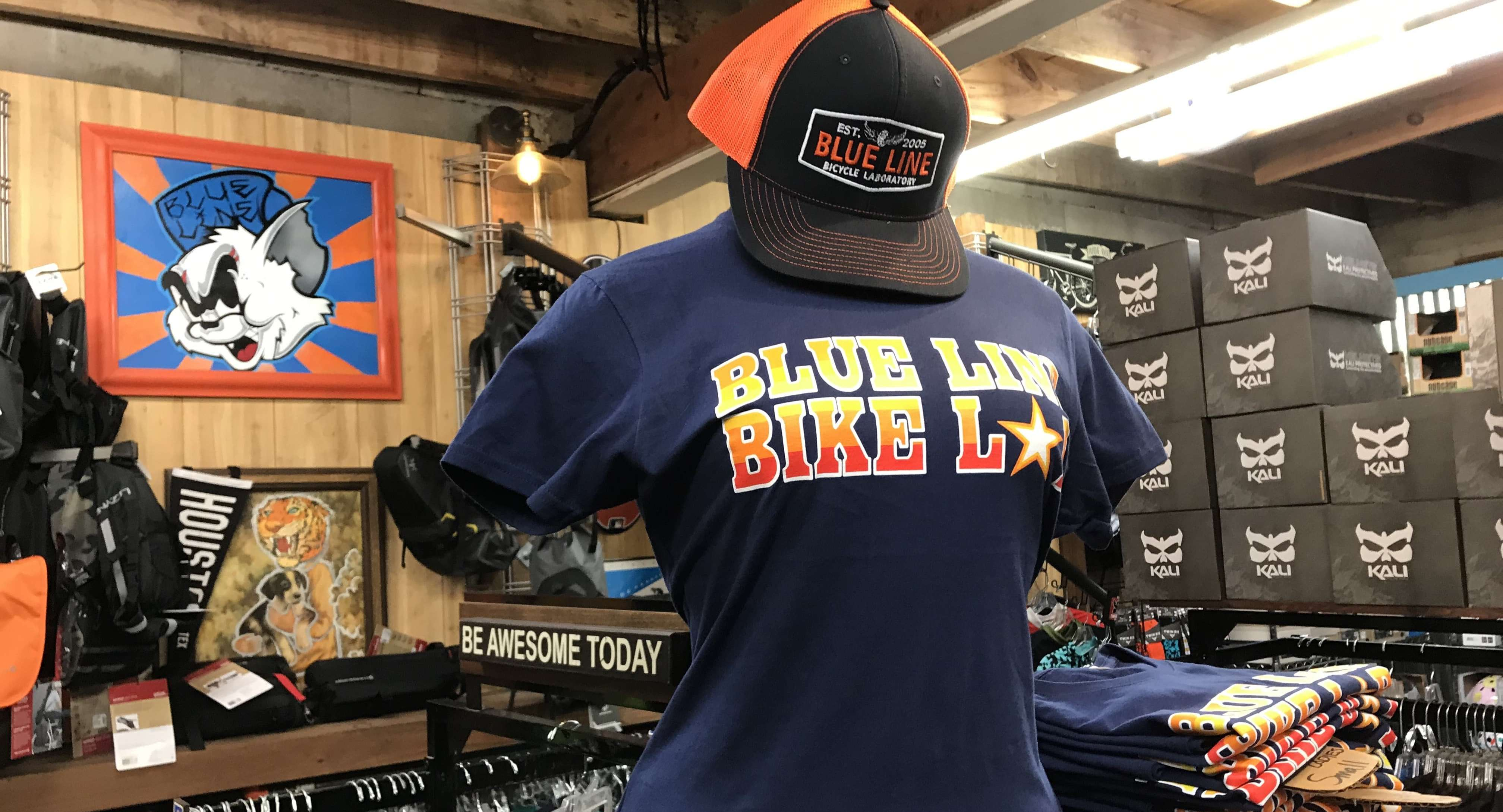 houston limited edition blue line bike lab shirts. It was a near win!