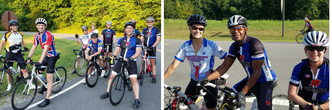 Group ride fun at Trace Bikes