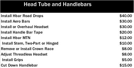 Head Tube and Handlebars