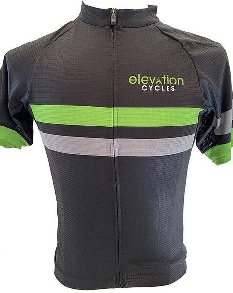 Elevation Cycles Custom M BLK STRIPE CUSTOM ELEVATION JERSEY SEMI-FITTED